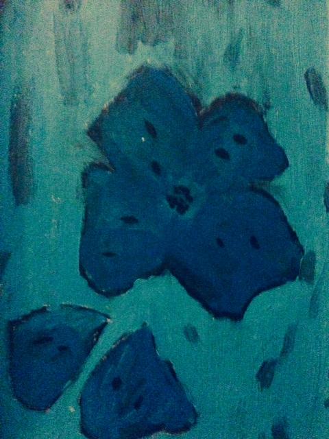 Fiore, Tiziana Mazzaglia, olio su tela, 25x30cm 1989