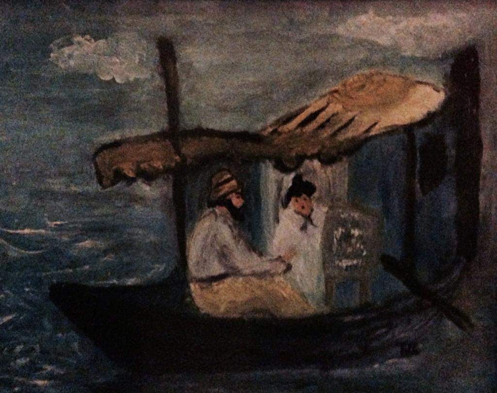 Copia da E. Manet, Tiziana Mazzaglia, olio su tela 25x30cm, 1998
